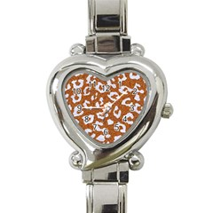 Skin5 White Marble & Rusted Metal (r) Heart Italian Charm Watch by trendistuff