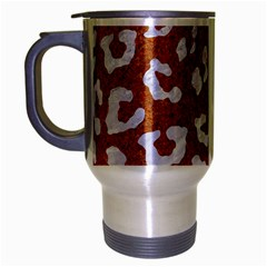 Skin5 White Marble & Rusted Metal (r) Travel Mug (silver Gray) by trendistuff