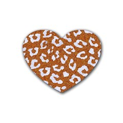 Skin5 White Marble & Rusted Metal (r) Heart Coaster (4 Pack)  by trendistuff
