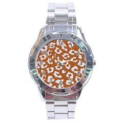 Skin5 White Marble & Rusted Metal (r) Stainless Steel Analogue Watch by trendistuff