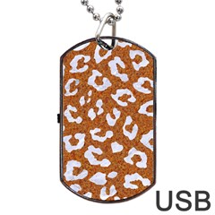 Skin5 White Marble & Rusted Metal (r) Dog Tag Usb Flash (one Side) by trendistuff
