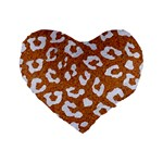 SKIN5 WHITE MARBLE & RUSTED METAL (R) Standard 16  Premium Heart Shape Cushions Front
