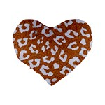 SKIN5 WHITE MARBLE & RUSTED METAL (R) Standard 16  Premium Heart Shape Cushions Back