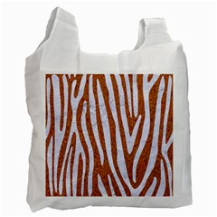 Skin4 White Marble & Rusted Metal (r) Recycle Bag (one Side) by trendistuff