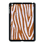 SKIN4 WHITE MARBLE & RUSTED METAL (R) Apple iPad Mini Case (Black) Front