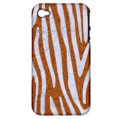 Skin4 White Marble & Rusted Metal (r) Apple Iphone 4/4s Hardshell Case (pc+silicone) by trendistuff