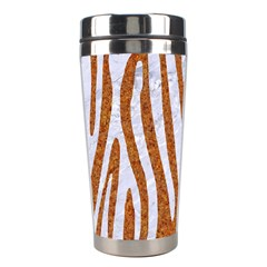 Skin4 White Marble & Rusted Metal (r) Stainless Steel Travel Tumblers by trendistuff