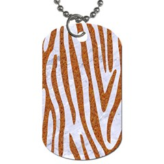 Skin4 White Marble & Rusted Metal Dog Tag (one Side) by trendistuff