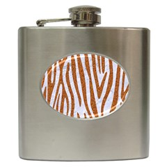 Skin4 White Marble & Rusted Metal Hip Flask (6 Oz) by trendistuff