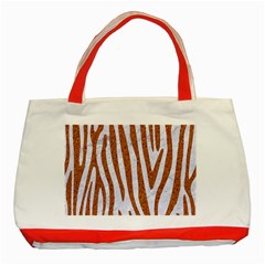 Skin4 White Marble & Rusted Metal Classic Tote Bag (red) by trendistuff