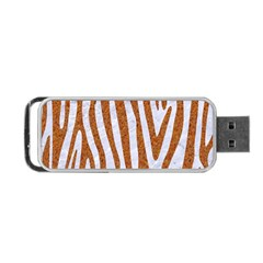 Skin4 White Marble & Rusted Metal Portable Usb Flash (one Side) by trendistuff