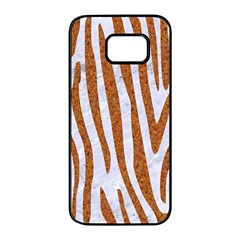 Skin4 White Marble & Rusted Metal Samsung Galaxy S7 Edge Black Seamless Case by trendistuff
