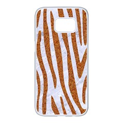 Skin4 White Marble & Rusted Metal Samsung Galaxy S7 Edge White Seamless Case by trendistuff
