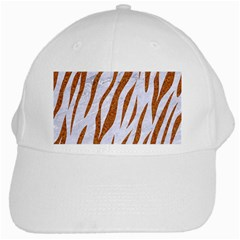 Skin3 White Marble & Rusted Metal (r) White Cap by trendistuff
