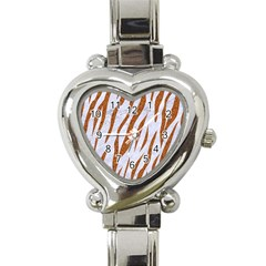 Skin3 White Marble & Rusted Metal (r) Heart Italian Charm Watch by trendistuff