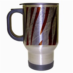 Skin3 White Marble & Rusted Metal (r) Travel Mug (silver Gray) by trendistuff