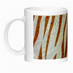 Skin3 White Marble & Rusted Metal (r) Night Luminous Mugs by trendistuff