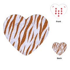 Skin3 White Marble & Rusted Metal (r) Playing Cards (heart)  by trendistuff