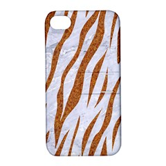 Skin3 White Marble & Rusted Metal (r) Apple Iphone 4/4s Hardshell Case With Stand by trendistuff