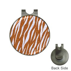 Skin3 White Marble & Rusted Metal Hat Clips With Golf Markers by trendistuff