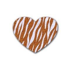 Skin3 White Marble & Rusted Metal Heart Coaster (4 Pack)  by trendistuff