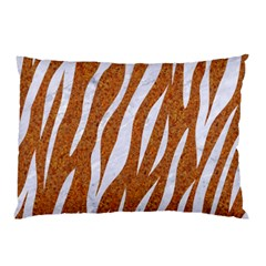 Skin3 White Marble & Rusted Metal Pillow Case by trendistuff