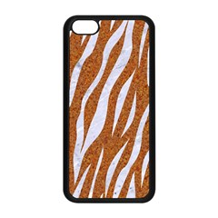 Skin3 White Marble & Rusted Metal Apple Iphone 5c Seamless Case (black) by trendistuff