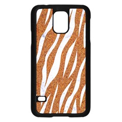 Skin3 White Marble & Rusted Metal Samsung Galaxy S5 Case (black) by trendistuff