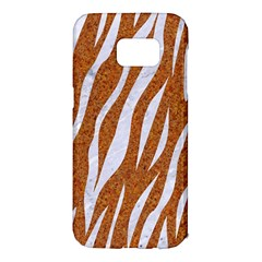 Skin3 White Marble & Rusted Metal Samsung Galaxy S7 Edge Hardshell Case by trendistuff