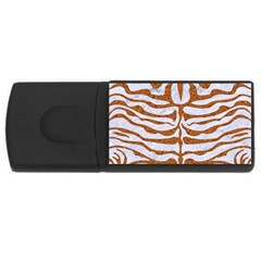 Skin2 White Marble & Rusted Metal (r) Rectangular Usb Flash Drive by trendistuff