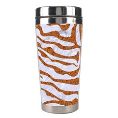 Skin2 White Marble & Rusted Metal (r) Stainless Steel Travel Tumblers by trendistuff
