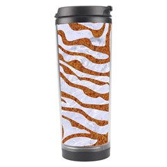 Skin2 White Marble & Rusted Metal (r) Travel Tumbler by trendistuff