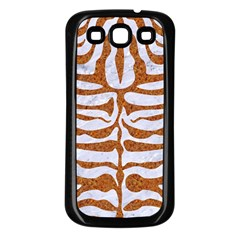 Skin2 White Marble & Rusted Metal (r) Samsung Galaxy S3 Back Case (black) by trendistuff