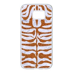 Skin2 White Marble & Rusted Metal (r) Samsung Galaxy S7 Edge White Seamless Case by trendistuff