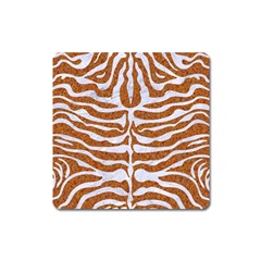 Skin2 White Marble & Rusted Metal Square Magnet by trendistuff
