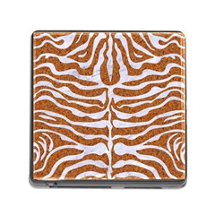 Skin2 White Marble & Rusted Metal Memory Card Reader (square) by trendistuff