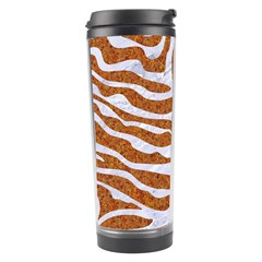 Skin2 White Marble & Rusted Metal Travel Tumbler by trendistuff