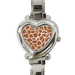 Skin1 White Marble & Rusted Metal (r) Heart Italian Charm Watch by trendistuff