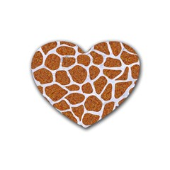 Skin1 White Marble & Rusted Metal (r) Heart Coaster (4 Pack)  by trendistuff