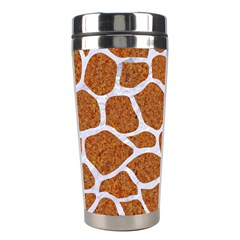 Skin1 White Marble & Rusted Metal (r) Stainless Steel Travel Tumblers by trendistuff