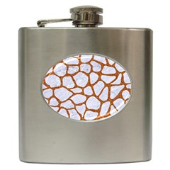 Skin1 White Marble & Rusted Metal Hip Flask (6 Oz) by trendistuff