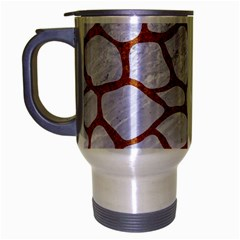 Skin1 White Marble & Rusted Metal Travel Mug (silver Gray) by trendistuff