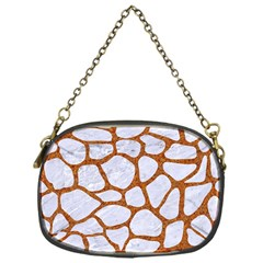 Skin1 White Marble & Rusted Metal Chain Purses (one Side)  by trendistuff