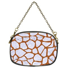 Skin1 White Marble & Rusted Metal Chain Purses (two Sides)  by trendistuff