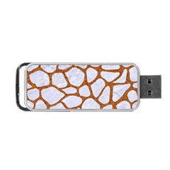 Skin1 White Marble & Rusted Metal Portable Usb Flash (one Side) by trendistuff