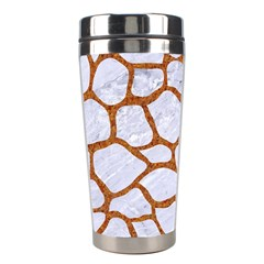 Skin1 White Marble & Rusted Metal Stainless Steel Travel Tumblers by trendistuff