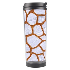 Skin1 White Marble & Rusted Metal Travel Tumbler by trendistuff