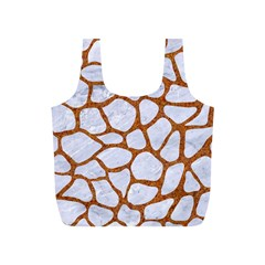 Skin1 White Marble & Rusted Metal Full Print Recycle Bags (s)  by trendistuff