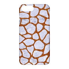 Skin1 White Marble & Rusted Metal Apple Iphone 7 Plus Hardshell Case by trendistuff