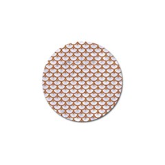 Scales3 White Marble & Rusted Metal (r) Golf Ball Marker by trendistuff